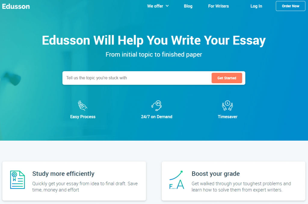 edusson essay writing service main page