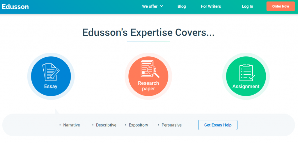 main page of Edusson