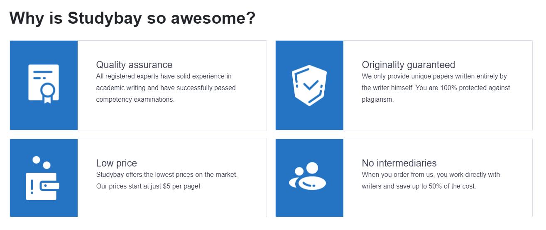 Studybay.com advantages