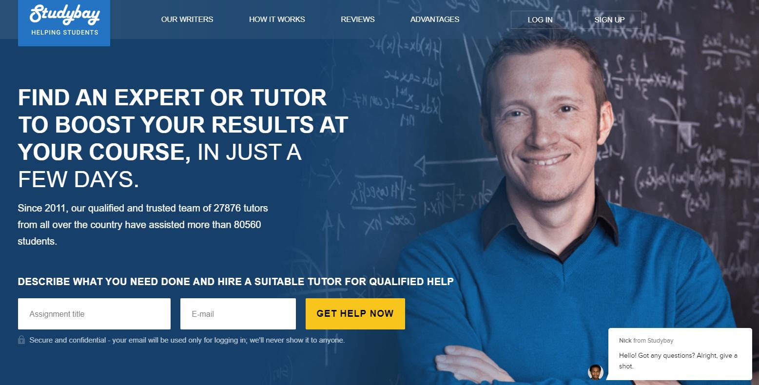 Studybay.com-mainpage